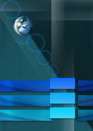 Abstract leather background with geometric bands of blue photo