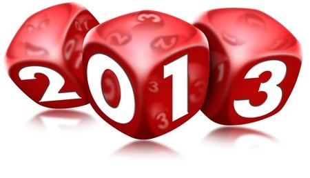 Dice 2013 Happy New Year Reklamní fotografie