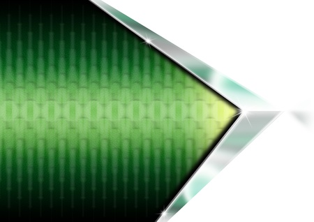 Green and metal geometric business background with reflections Stock Photo - 12755060