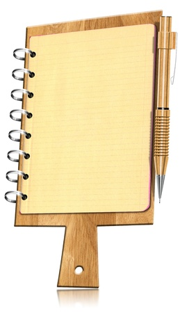 cutting board: Notebook Shaped Cutting Board with Pages