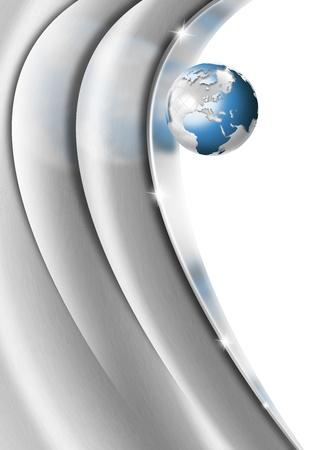 Metal Heart Globe Business Background Stock Photo - 13205482