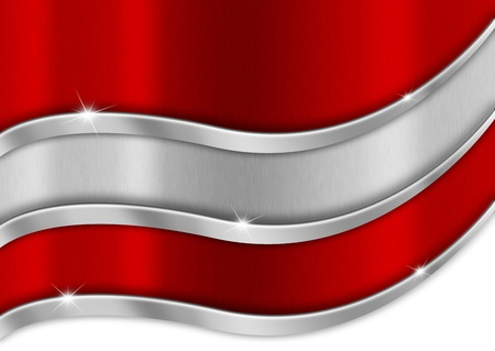 Red white and red background national austrian metal flag photo