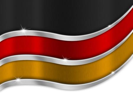 german flag: Black red and orange background national german metal flag