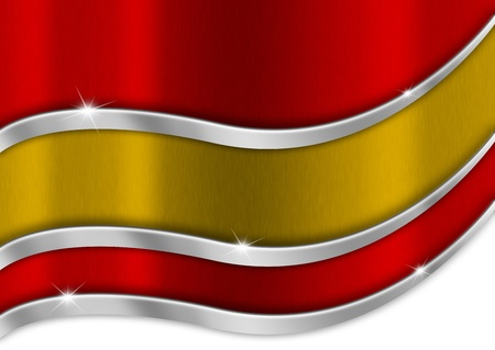Red yellow and red background national spanish metal flag photo