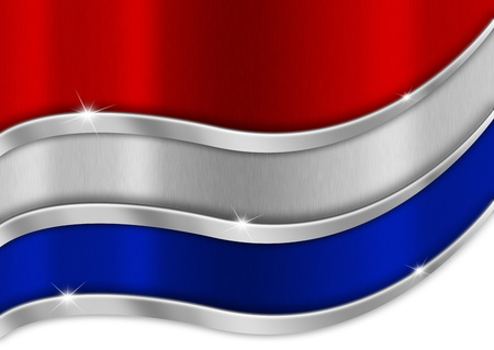 haarlem: Red white and blue background national dutch metal flag
