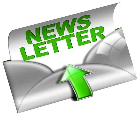 newletter: Newsletter concetto di marketing su sfondo bianco