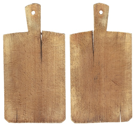 Used chopping or cutting board isolated on withe