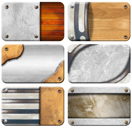 Six grunge backgrounds for the business card Stock Photo - 15014553