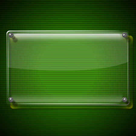 plexiglas: Glass or plexiglas framework on green modern background Stock Photo