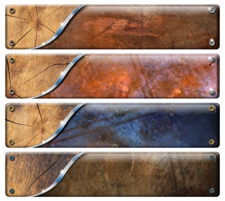 header: Set di banner grunge Archivio Fotografico