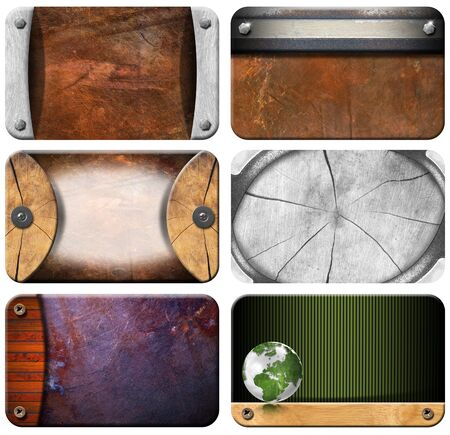 Six grunge backgrounds for the business card Stock Photo - 15077389