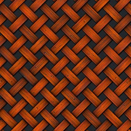 crisscross: Wooden crisscross diagonal template on a black background Stock Photo