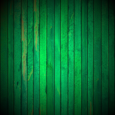 Background picture made of old green wood boards photo