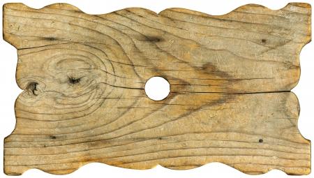 Horizontal old grunge wood board on white background Stock Photo - 15931074