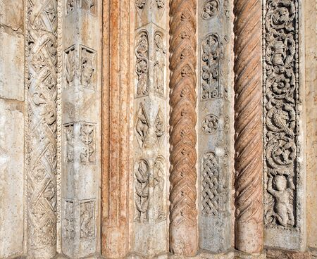 Detail of the decoration of the portal of the Cathedral of Verona - Italy photo