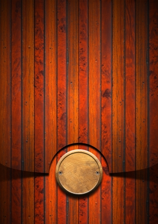 Wood grunge background with wooden plate and screws heads Stock Photo - 17208038