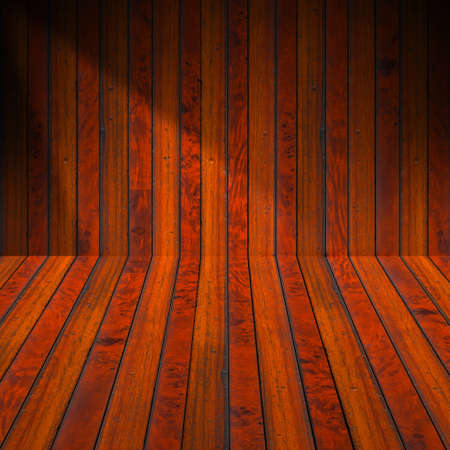 Wooden brown planks interior with illuminated Stock Photo - 17291407