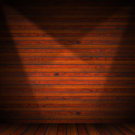 Wooden brown planks inter with illuminated Stock Photo - 17291400