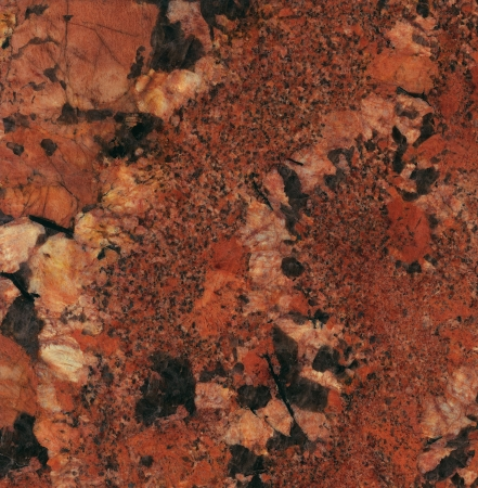 marbles close up: Surface of the granite with bordeaux, red and black tint for background Stock Photo