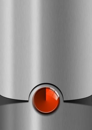 Metallic moderne sjabloon achtergrond met rode metalen plaat Stockfoto