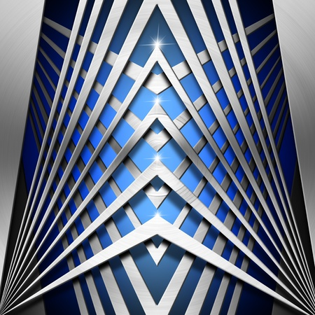 Metallic and blue modern template background with geometrical forms Stock Photo - 19449044