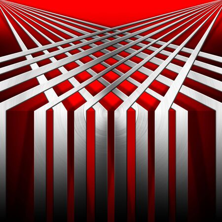 lamina: Metallic and red modern template background with geometrical forms Stock Photo
