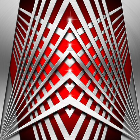 Metallic and red modern template background with geometrical forms Stock Photo - 19449039