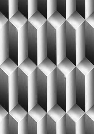 Background to cover or page with metallic geometrical forms Stock Photo - 19449049