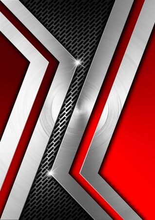 Metallic and red futuristic template background with geometrical forms Stock Photo - 19449053