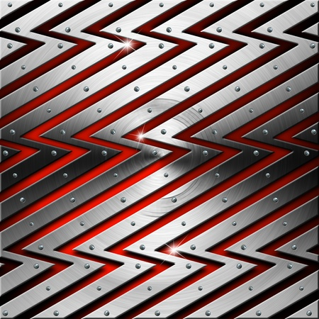 Red futuristic template background with metal lightnings Stock Photo - 19449059
