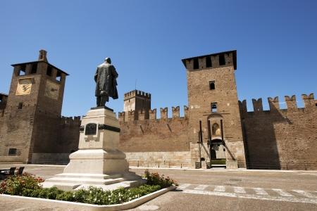 Entrance to the Medieval Old castle (Castelvecchio) in Verona, Italy