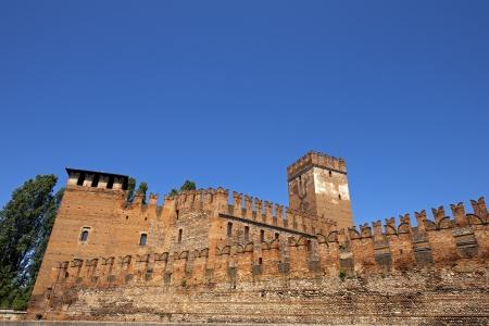 Medieval Old castle Castelvecchio (Scaligero) in Verona, Italy