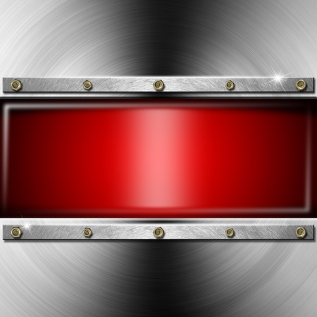 Metallic and industrial template background with red screen Stock Photo - 19759790