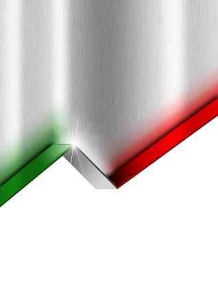 Metal gray template with green white and red national italian flag Stock Photo - 20209709