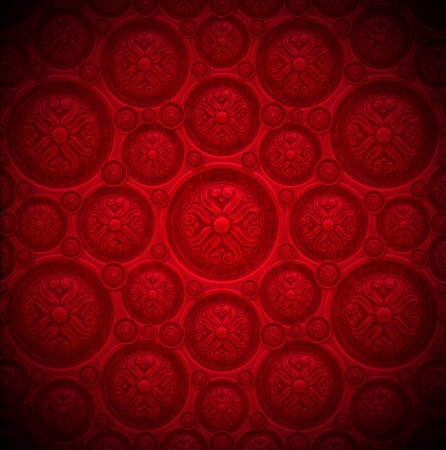Closeup detail of aged red velvet texture background with classic ornament Stock Photo - 20824300