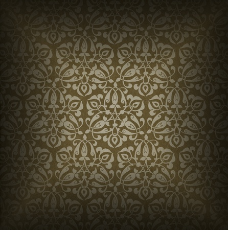 Background of aged brown velvet and texture with ornate floral seamless Stock Photo - 20824347