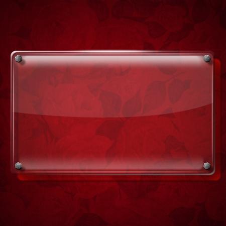 Glass or framework on red velvet background with roses flowers Stock Photo - 20962441