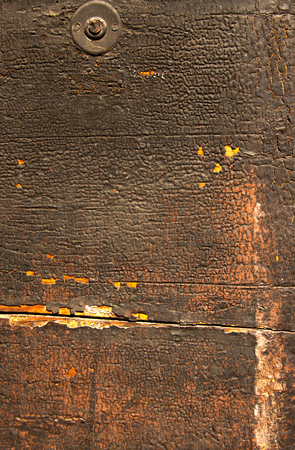 Cracked wooden brown background with ruined and cracked paint Stock Photo - 22660060