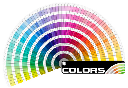 Pantone guide de la palette de couleurs isolé sur fond blanc - Demi-cercle