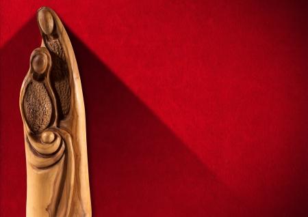 マリア、ヨセフと赤ん坊のイエスと木製クリスマス ・ クリブ