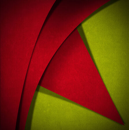 Red and green velvet background with geometric forms and shadows Stock Photo - 24039917