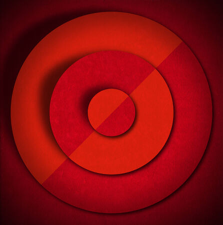 Aged red and orange velvet texture background with concentric circles and shadows photo