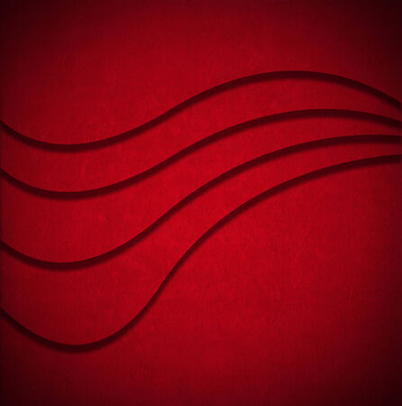 Aged red velvet texture background with geometric waves and shadows Stock Photo - 24039920