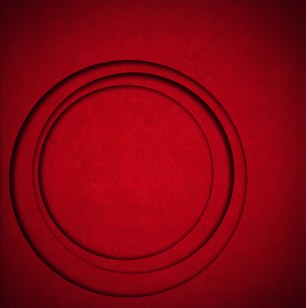 Aged red velvet texture background with round circle shapes and shadows Stock Photo - 24039923