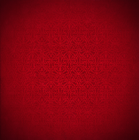 Template of red velvet and texture with ornate floral seamless photo