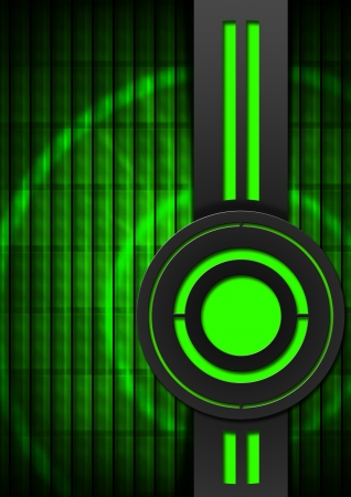 Black and green business background with circles and vertical band photo