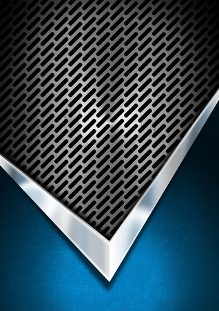 blue metallic background: Abstract background with blue velvet and metallic grid