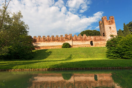 treviso: Ancient walls of Castelfranco Veneto, west side  XII-XIII century  in the province of Treviso, north Italy Stock Photo