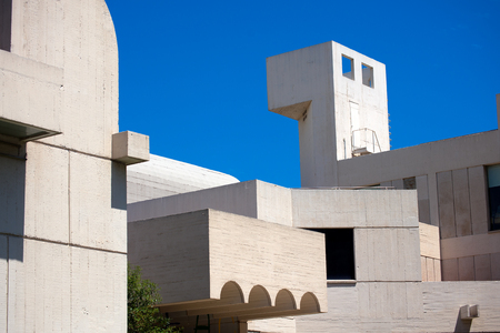 BARCELONA, SPAIN - JUNE 11, 2014  Fundacio Joan Miro - 1975, is a museum of modern art honoring Joan Miro located on the hill called Montjuic in Barcelona, Spain  Architect  Josep Lluis Sert Editöryel