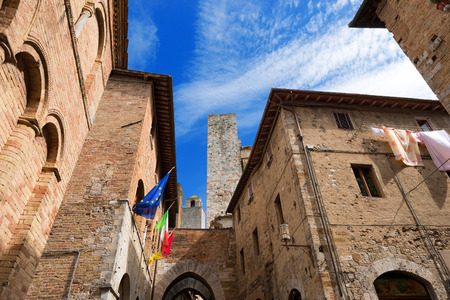 Buildings, towers and houses, San Gimignano medieval town  UNESCO heritage , Siena, Tuscany, Italy